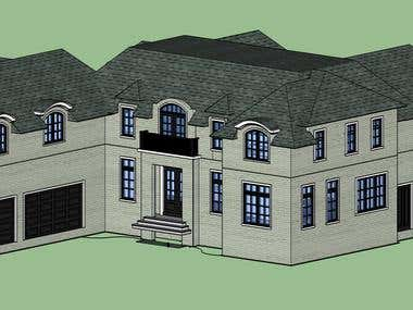 Sketchup modelling of building