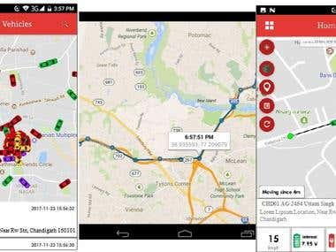 GPS based Vehicle Tracking (VTS) app.
