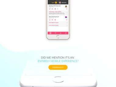 OMG App Landing Page Design