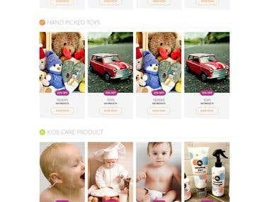 4 babies.Nz Landing Page UI design
