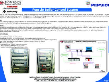 Installation of control and safety system for Boiler