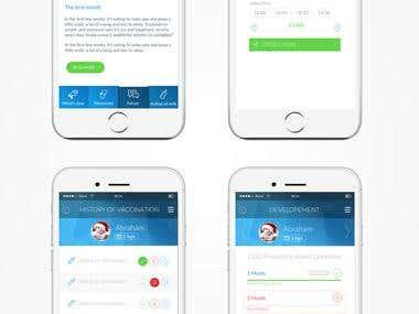 Link Caring App UI & UX Design