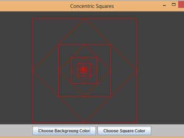 Concentric Square Shape in Java