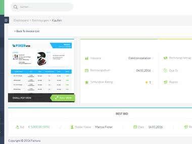 Faktoora Dashboard UI & UX Design