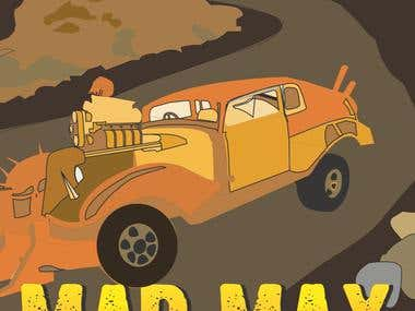 Mad Max Car Illustration