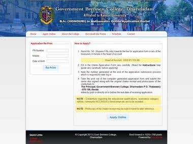 Online Registration Portal
