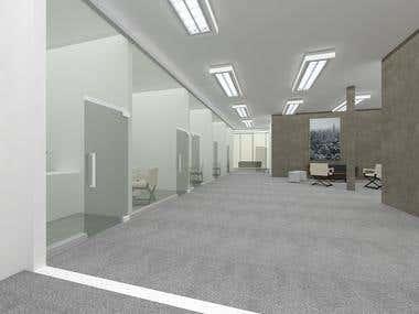 Renders e interiorismo para oficinas