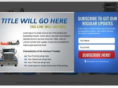 Haulmart Landing Page