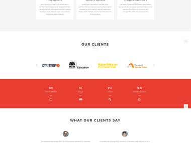 Fire Agency Website Design