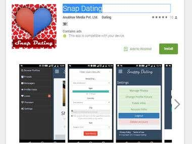 Snap Dating(Dating App Android Project)