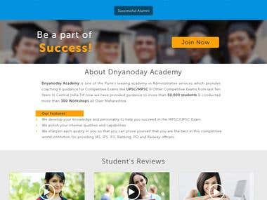 Dnyanoday Academy Website