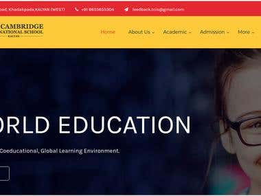 Wordpress Website for The Cambridge International School