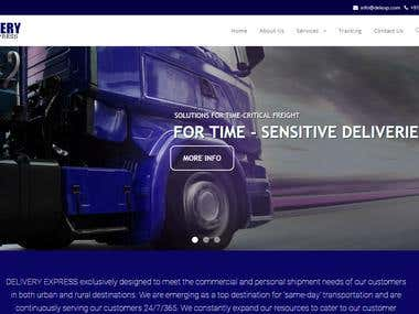 Wordpress Website for Courier Company