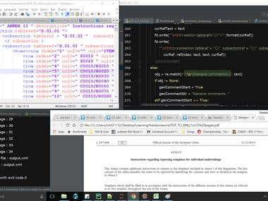 Conversion of PDF to XML