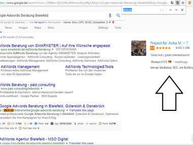 Top 1 Rankings for Google.de (Germany)