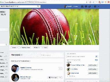 Chrome Extension: Facebook Group Members Scraper