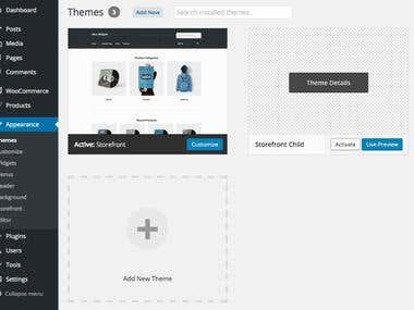 Wordpress Site Products Upload