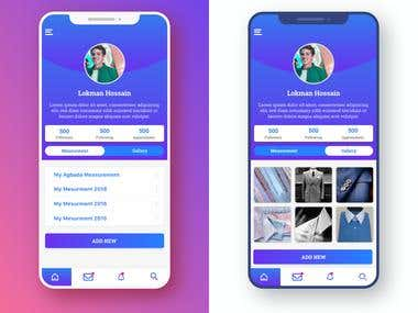 Mobile App Home Screen UI Design