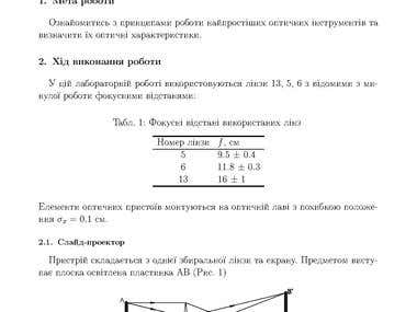 My works in Physics in LaTeX