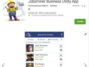 Jobzminer Business Utility App(Android)