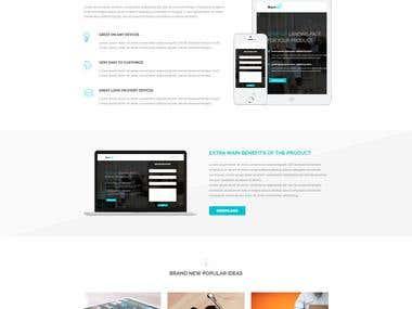Start Up Landing Page