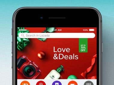 Lazada e-commercial apps
