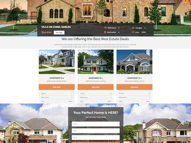 Real Estate 2 Landing Page
