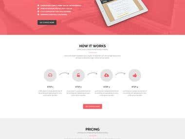 Start Lanuch Landing Page