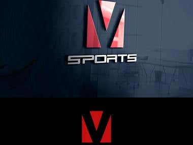 V-Sport Logo design