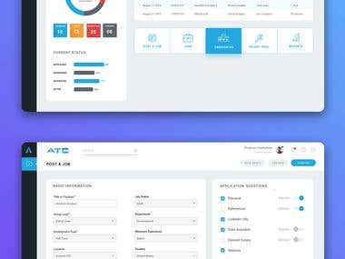 Recruiter Dashboard Design