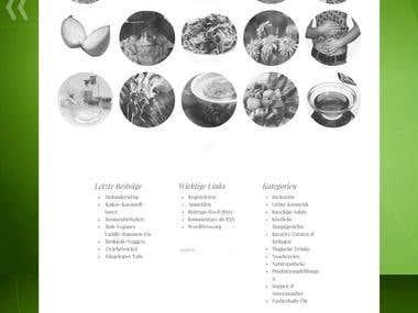 Website für vegane Produkte und Rezepte