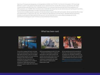 DANA STEEL UAE WEBSITE DEVELOPMENT
