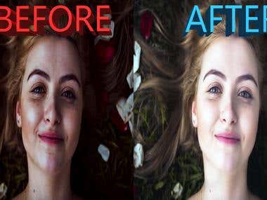 Photo Retouch,Photo whitening,remove acne spot from photo