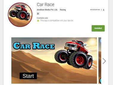 CAR RACE(ANDROID GAME MADE WITH UNITY 3D)