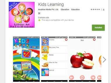 Kids Learning (Android Game Unity 3d)