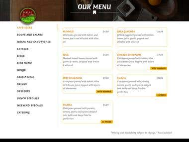 Restaurant website with CMS - Mobile Responsive.