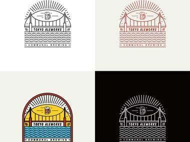 Tokyo Aleworks Logo Design