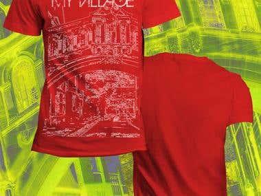 T-shirt print designing