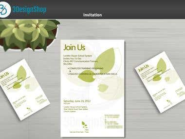 invitation Cards+Advertisement+Pass design e.t.c