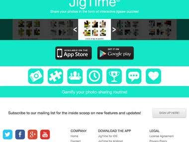 Jigtime APP (Hybrid Apps using Cordova & Jquery)