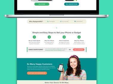 Website for BuyBack SmartPhones - Gadgetz