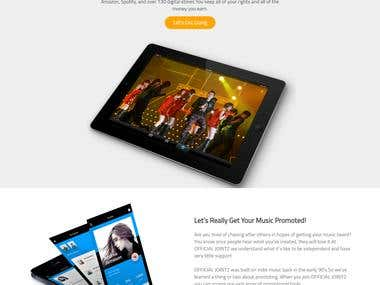 Responsive WordPress website of Online Music selling