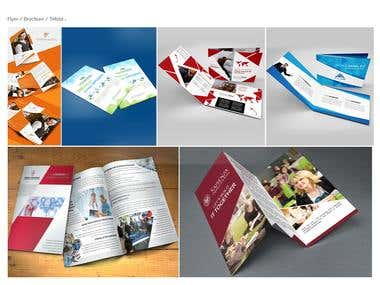 Flyer and Brochure Design Set