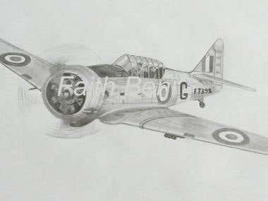 Technical Drawing of North American Harvard