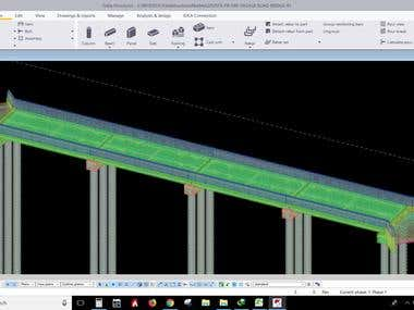 TEKLA MODELING AND DETAILING OF RCC BRIDGE