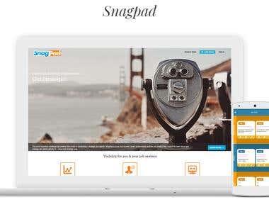 SnagPad - Job Search Portal and Mobile application
