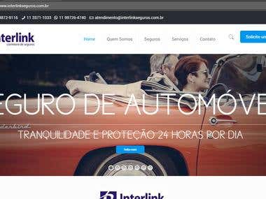 Interlink Seguros - Wordpress website