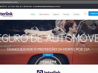 Interlink Seguros - Wordpress website
