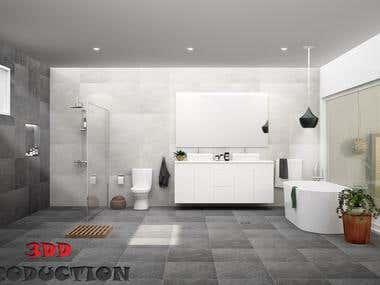 Bathroom Interior Render