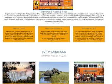 African Safari Website based on wordpress with payment